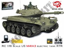 HL3839 Radio Control U.S M41A3 Walker Bulldog Tank 1/16 Scale BB Shooting Model